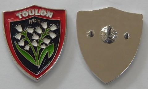 Pin`s RCT, CLEOPAT.COM, on craint degun, parce que Toulon, pin`s, rugby, création métal,